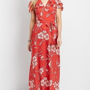 Maurices Floral Wrap Maxi Dress NWT